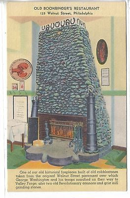 Historical Fireplace,Old Bookbinder's Restaurant-Philadelphia,Pennsylvania - Cakcollectibles