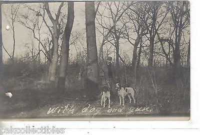 RPPC-With Dog and Gun-Man Hunting - Cakcollectibles - 1