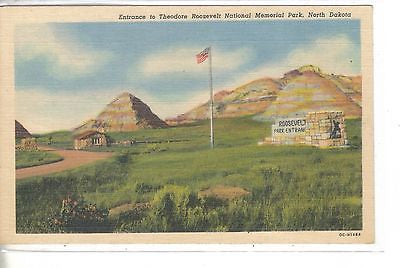 Entrance to Theodore Roosevelt National Memorial Park-North Dakota - Cakcollectibles