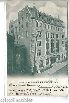 Y.M.C.A. Building-Newark,New Jersey 1905 - Cakcollectibles