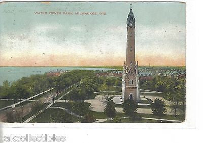 Water Tower in Water Tower Park-Milwaukee,Wisconsin 1907 - Cakcollectibles