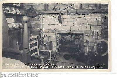 RPPC-Interior of A Cabin,Ft. Harrod Pioneer Memorial State Park-Harrodsburg,Ky. - Cakcollectibles - 1