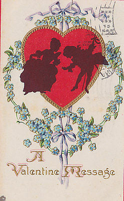 A Valentine Message Postcard - Cakcollectibles - 1