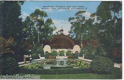 Botanical Building and Lily Pond,Balboa Park-San Diego,California 1944 - Cakcollectibles