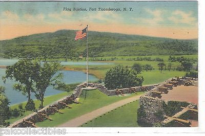 Flag Bastion -Fort Ticonderoga,New York - Cakcollectibles
