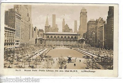 RPPC-Bryant Park,Public Library on 5th Ave. & 42nd St.-New York City 1941 - Cakcollectibles