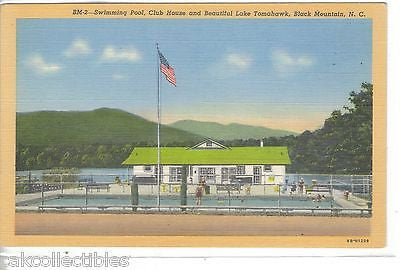 Swimming Pool,Club House & Lake Tomahawk-Black Mt.,N.C. - Cakcollectibles