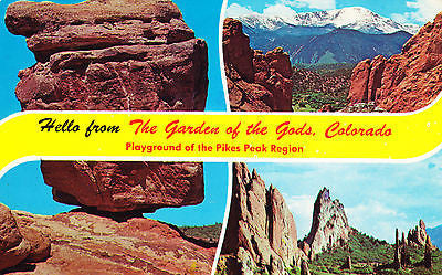 Greetings From Garden Of The Gods Colorado Postcard - Cakcollectibles