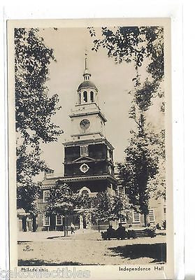 RPPC-Independence Hall-Philadelphia,Pa. - Cakcollectibles