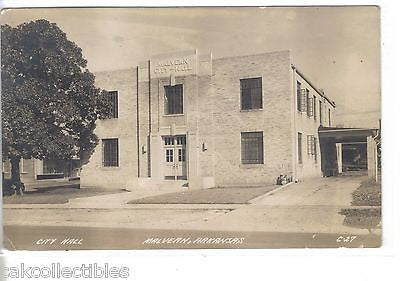 RPPC-City Hall-Malvern,Arkansas 1943 - Cakcollectibles - 1