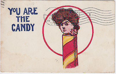 You Are The Candy Comic Postcard - Cakcollectibles