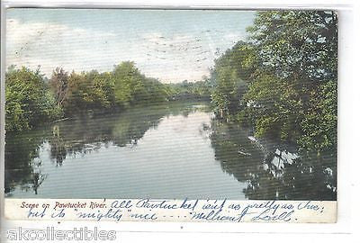 Scene on The Pawtucket River-Rhode Island 1906 - Cakcollectibles