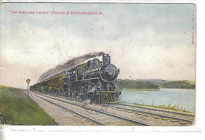 """The Overland Limited""-Chicago & North-Western Ry.1908 - Cakcollectibles"