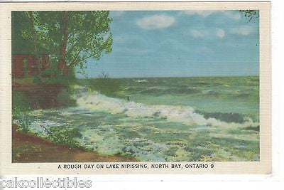 A Rough Day on Lake Nipissing-North Bay,Ontario,Canada - Cakcollectibles