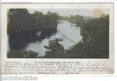 Ox Bow Bend.Black River-Port Huron,Michigan 1906 - Cakcollectibles - 1