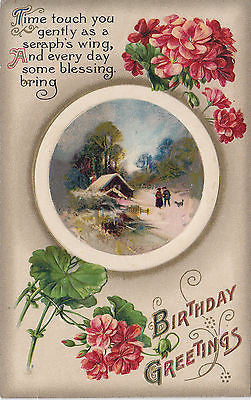 Birthday Greetings John Winsch Design Postcard - Cakcollectibles