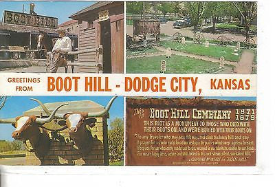 Greetings From Boot Hill, Dodge City, Kansas - Cakcollectibles