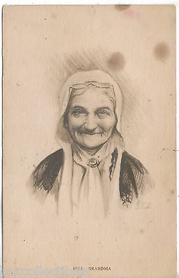 "Early Post Card-""Grandma""-Signed G.E.J. - Cakcollectibles"