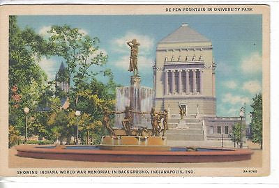 De Pew Fountain in University Park-Indianapolis,Indiana - Cakcollectibles