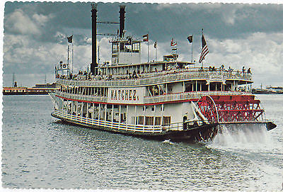 """Sternwheeler Natchez"" Steamer Excursion Boat New Orleans Postcard - Cakcollectibles - 1"