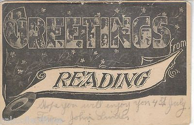 Large Letter-Greetings from Reading,Pennsylvania 1906 - Cakcollectibles