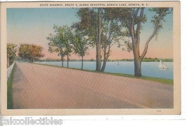 State Highway,Route 5,along Seneca Lake-Geneva,New York - Cakcollectibles