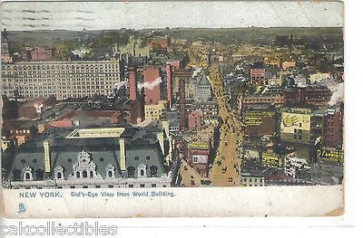 Bird's-Eye View from World Building-New York City (Tuck's) - Cakcollectibles - 1