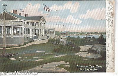 Casino and Cape Shore-Portland,Maine 1905 - Cakcollectibles