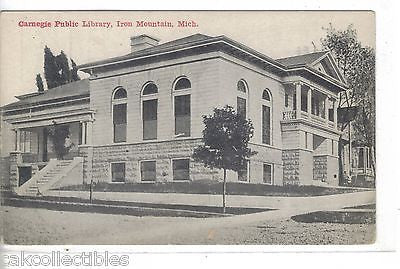 Carnegie Public Library-Iron Mountain,Michigan - Cakcollectibles - 1