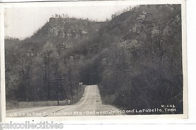 RPPC-U.S. 25 In The Cumberland Mts.,between Jellico & LaFollette,Tennessee - Cakcollectibles - 1