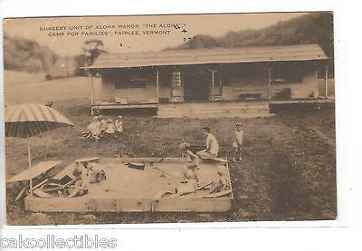 "Nursery Unit of Aloha Manor,""The Aloha Camp For Families""-Fairlee,Vermont 1935 - Cakcollectibles - 1"