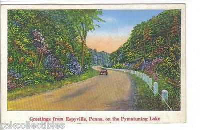 Greetings from Espyville,Pennsylvania on The Pymatuning Lake - Cakcollectibles
