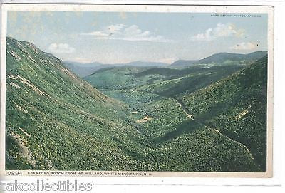 Crawford Notch from Mt. Willard-White Mts.,New Hampshire - Cakcollectibles