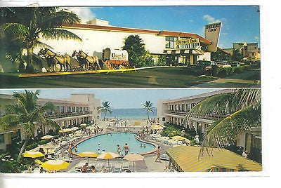 World Famous Desert Inn Resort Motel-Miami Beach,Florida.Vintage postcard front view