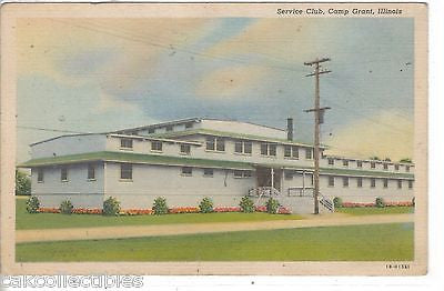 Service Club-Camp Grant,Illinois 1942 - Cakcollectibles