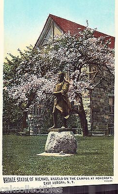 Bronze Statue of Michael Angelo,Campus at Roycroft-East Aurora,N.Y. - Cakcollectibles