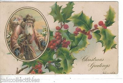Christmas Greetings-Santa 1907 - Cakcollectibles - 1