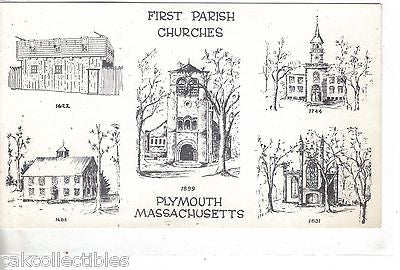 First Parish Churches-Plymouth,Massachusetts - Cakcollectibles