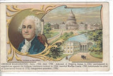 Early Post Card of George Washington.Postcard front