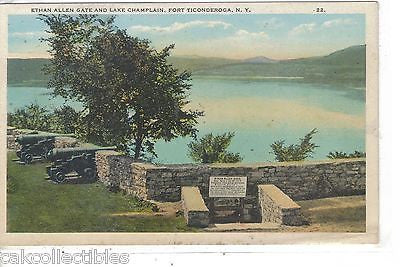Ethan Allen Gate and Lake Champlain-Fort Ticonderoga,New York - Cakcollectibles