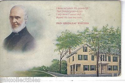 Early Post Card-John Greenleaf Whittier - Cakcollectibles