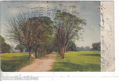 Lovers Lane,Audubon Park-New Orleans,Louisiana 1907 - Cakcollectibles