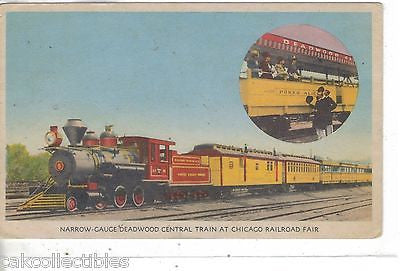 Narrow Gauge Deadwood Central Train at Chicago Railroad Fair 1949 - Cakcollectibles - 1