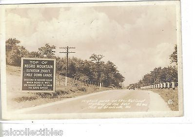 RPPC-Top Of Negro MT.-Highest Point on National Highway U.S.40 -Grantsville,Md. - Cakcollectibles - 1
