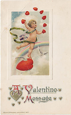 """A Valentine Message"" John Winsch Postcard - Cakcollectibles - 1"