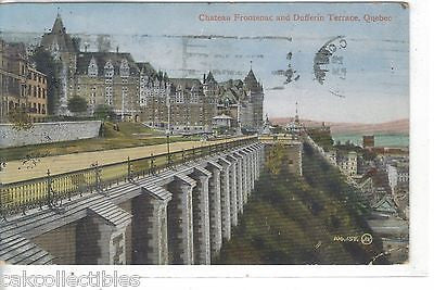Chateau Frontenac and Dufferin Terrace-Quebec 1913 - Cakcollectibles