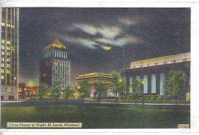 Civic Center at Night-St. Louis,Missouri - Cakcollectibles