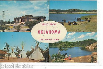 Multi View Post Card-Hello from Oklahom-The Sooner State - Cakcollectibles