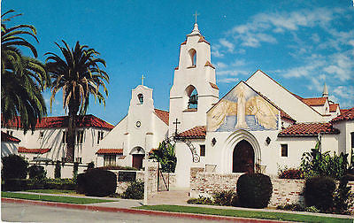 Mary Star Of The Sea Catholic Church La Jolla Calif. Postcard - Cakcollectibles - 1