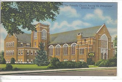 """The Friendly Church Among the Evergreens"",Riverside United Brethren-Muncie,Ind - Cakcollectibles"